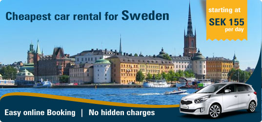 Cheapest car rental for Sweden